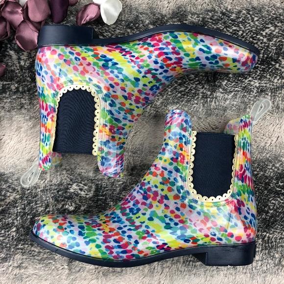 Jack Rogers Womens Sallie Print Rainboot Rain Boot Pick SZ//Color.